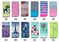 Cheap Printing Wallet Leather Case With Card Slots Stand For Samsung Galaxy Note 3 N9000 Note 4
