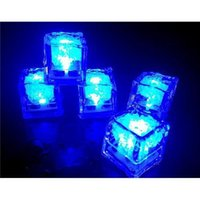 Wholesale Party Festival Decorations Flash Ice Cube WaterActived Flash Led Light Put Into Water Drink Flash Automatically for Wedding Bars DHL
