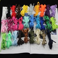 Wholesale New Shoelaces Flat Shoelace Sports Canvas Sneaker Shoe Laces Boot Trainer Skate Laces Many Colours pair
