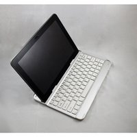 tablet computers - Computer Computador Wireless Keyboard Teclado Bluetooth Aluminum Bracket Stand Dock Cover for Samsung Galaxy Tab P5100 P5110 White