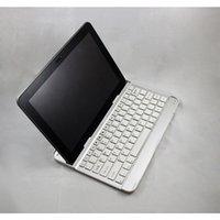 computer keyboard - Computer Computador Wireless Keyboard Teclado Bluetooth Aluminum Bracket Stand Dock Cover for Samsung Galaxy Tab P5100 P5110 White