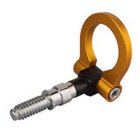 Wholesale Hot Specials Gold Aluminum Racing Tow Hook Towing Trailer for bmw E30 E46 E36 E91 E92 E93 good quality