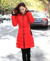 Wholesale New Korean women Winter long section down slim jacket cotton padded jacket