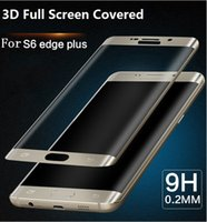 Wholesale For Note S7 edge Ultra Thin MM D Full Cover Curved Side Tempered Glass Screen Protector Samsung Galaxy S6 Edge Plus