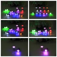 Wholesale Hot Sale little Star shape Flashing earring LED earrings stud earrings sweet Flashing earring party Christmas gift