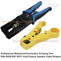 Wholesale CCTV Camera Installation Compression Tool For F BNC RCA RG C C C Type And Cable Strip