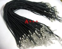 Fashion,Fashion leather cord braided - 20pcs black braided leather necklace cord mm w lobster approx quot quot