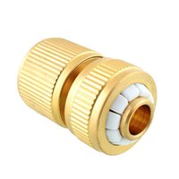 Cheap Nrand New Useful Copper Metal Threaded Water Pipe Connector Tap Snap Adaptor Fitting Garden Outdoor