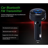 Wholesale 2015 Special Offer Promotion New Bluetooth Wireless Transmisor Fm Wireless Bluetooth Fm Transmitter Car Kit Hands free Usb Charger Speaker
