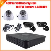 Wholesale CCTV CH Full D1 P2P HDMI H Mini DVR Video Surveillance System Security System HD CMOS TVL IR Camera Kit