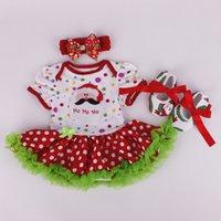 Wholesale 2015 romper dress for newborn little girls clothing set tutu slip dress lace ruffle skirt shoes headband