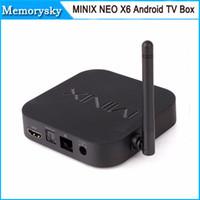 achat en gros de xbmc mini x7-TV MINIX NEO X7 mini-Box Android Quad Core 1,6 GHz RK3188 2G / 8G WiFi HDMI USB RJ45 Carte SD optique XBMC Smart TV Récepteur 010027