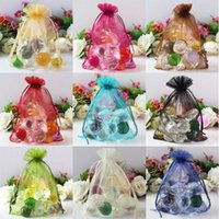 Wholesale Organza Jewelry Candy Wedding Gift Pouch Bags x18cm Random Color for Party Holiday New Year Wedding Use