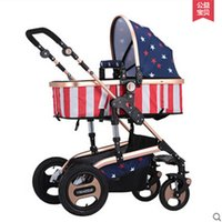 Wholesale Lightweight stroller portable pram ortable Pushchair Bording Travel Pram High Landscape Folding baby carriage strollers pushchair