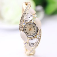 Wholesale The new wrist watches opal watches diamond watches along the alloy watch