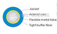 armored optical fibre cable - Optical Fiber Fibre Armored armoured Cable cables singlemode simplex mm Blue PVC KM