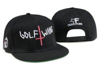 golf wang hat - New fashion odd Future Golf Wang Snapback letter baseball caps Black hats for men and women hip hop hiphop bboy cap