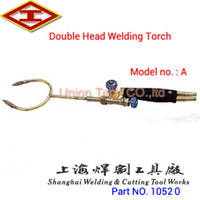 acetylene cutting - Shanghai Huawei Welding Cutting Tool Works Factory supply double head manual welding torch acetylene Welding gun flame heating torch