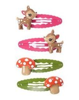 baby gymboree - snap hair clips deer or mushroom gymboree cute boutique hair clips hair pin mini barrettes for kids baby toddlers girls hair accessorie
