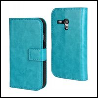 Cheap Crazy Horse Leather Flip Case for Samsung Galaxy S3 mini i8190, for S3 mini Leather Case