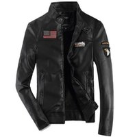 air flights europe - Fall the new male air force one leather jacket Europe military flight leather outfit leather jacket