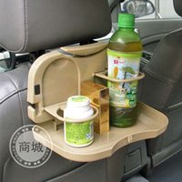 Wholesale Cheap Price Durable Foldable Car Auto Dining Table Car Back Seat Meal Drink Tray Desk Water Drink Holder Cup Bottle Stand Mount By DHL
