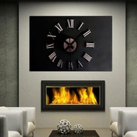 Wholesale New Metal Chic DIY Silver Vintage Roman Numeral Number Frameless Wall Clock D Home Decor Living Room