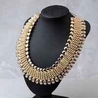 big auger - Luxury Brand Big Chunky Statement Jewelry Necklace Europe And America Set Auger Exaggerated Alloy Necklaces Accessories Bib Choker Gift