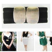 fabric belts - Fashion Elastic wide waistband women s Fabric Belt Oval Buckle Waistband original factory supply