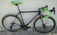 Wholesale 2015 new color supersix evo green carbon road bike complete carbon bicycle black red racing bikes groupset