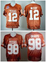 american football colts - Factory Outlet Texas Longhorns Colt McCoy College Jersey American Football Brian Orakpo Longhorns Jerseys Orange Embroider Best Quali