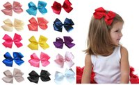 big hairclip - 48 quot Inch baby girl Handmade Big ribbon Hair Bow Clip Pin Alligator Clips Accessories children hairclip hair accessories