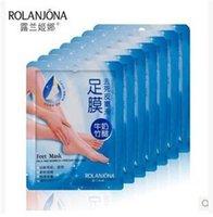 aloe body - 2015 New Rolanjona Milk Bamboo Vinegar Feet Mask Peeling Exfoliating Dead Skin Remove Professional Feet sox Mask Foot Care CCA1617