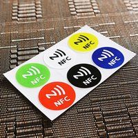 Wholesale New Waterproof NFC Tag Stickers NFC RFID Adhesive NFC Label for Smartphone Label Universal For NFC Sale