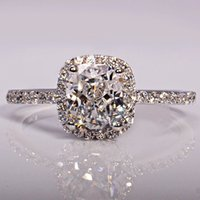 artificial diamond rings - Hot Sale Promotion K Plated princess diamond ring lovers ring artificial diamond wedding ring for female NSCD wedding ring105