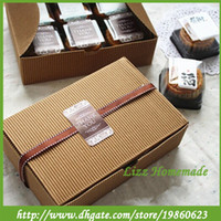 Wholesale 100pcs Favor Boxes for Birthday Cheap Cake Kraft Printed Boxes Biscuit Snack Container for Gift Decoration Mini Cupcake Boxes for Party