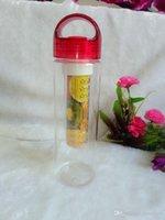 Wholesale Tritan Plastic Water Bottle Cup Tritan Sport Fruit Bottles Cup Lemon Fruit Juice Cup BPA EA Free Eastman Tritan Plastics