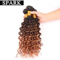 Wholesale 100percent human curly hair African women Peruvian Malaysian Brazilian ombre deep wave virgin hair