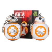Wholesale 1PCS inch Star Wars The Force Awakens BB8 BB R2D2 Droid Robot Action Figure stormtrooper Clone Trooper Strap New year toys