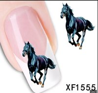 beauty nail wraps - 1Pcs Horse Design Nail Art Water Sticker Nails Beauty Wraps Foil Polish Decals Temporary Tattoos Watermark
