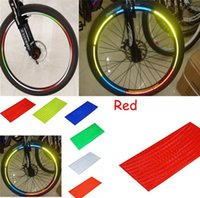 bicycle wheel stickers - 6 COLORS Reflective stickers bike Cool DIY Bicycle wheel stickers Motorcycle Wheel Rims Reflective Stickers Bicycle accessories B303