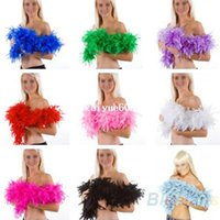 Wholesale 2m Feather Boa Fluffy Craft Costume Dressup Wedding Party Home Flower Decor Gift Event Party Supplies