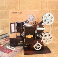 Wholesale Creative Vintage Movie Film Projector Machine Music box Musical Box Music Jewelry Box for Home Decoration