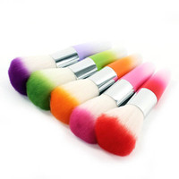 Wholesale Nail Art Dust Remover Brush Cleaner Acrylic UV Gel Rhinestones Makeup Brush Tool