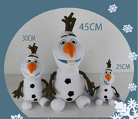 Wholesale 45cm olaf stuffed toys Cotton Stuffed frozen Dolls Cartoon Movie Frozen Olaf Plush Toys