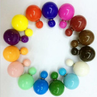 Wholesale Double Side Shining Pearl Stud Earrings Big ball Earrings Hot Sale Earrings Lovely candy colours gift