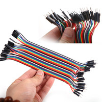 Wholesale 40PCS Dupont wire jumpercables cm MM male to female P P For Arduino L0192403