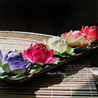 big pond - Sale cm big real look lotus EVA flowers decorate pond home swmming pool party wedding decoration artificial silk flower