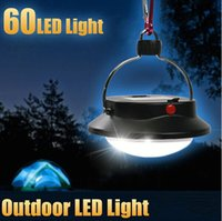 Wholesale High quality Outdoor Indoor Portable Camping LED Lamp with Lampshade Circle Tent Lantern White Light Campsite Hanging Lamp