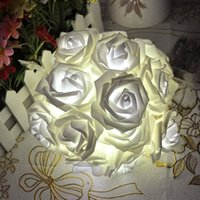 Wholesale Rose Fairy LED String Lights for Room Home Garden Christmas Xmas Wedding Party Decoration Lights Warm White White m Leds